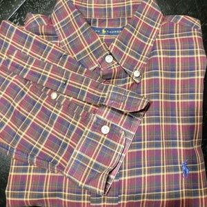 Men's Polo Button Down Shirt sz L